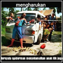 15 MEME Kekonyolan SPIDERMAN Saat di Indonesia