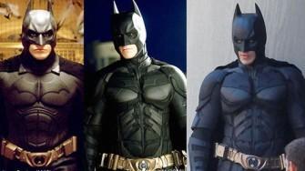 #5 The Dark Night Trilogy Pada tahun 2005, sang penjaga kota Gotham kembali hadir dalam format trilogi. Kali ini, semua jajaran yang menggarap film ini diisi oleh wajah-wajah baru. Untuk posisi sutradara, Warner Bros mempercayakan Christopher Nolan menahkodai tiga cerita besar dari proyek ini. Selain itu, Christian Bale dihadirkan sebagai pemeran karakter Bruce Wayne, di film tersebut. Tentunya dari segi desain kostum, benar-benar mengalami perubahan yang jauh lebih apik dari seri sebelumnya. Kali ini, tampilan Batsuit dibuat lebih berkesan 'ringan' dan elastis. Pilihan ini diambil, guna lebih membuat The Dark Knight luwes dalam bergerak. sumber : jadiberita.com