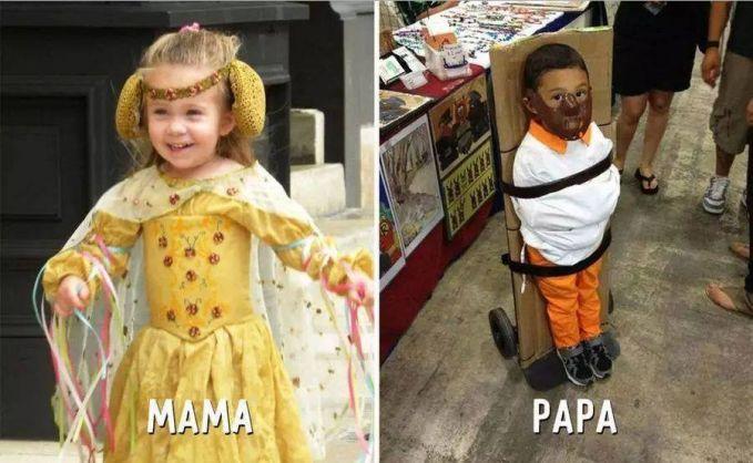 #3 PUTRI DAN PANGERAN MAMA : Akan mendandani anaknya sendiri seperti seorang putri kerajaan. PAPA : Membuat anak prianya diikat dan diberi penutup mulut supaya tidak kabur dan berteriak. Hahaha