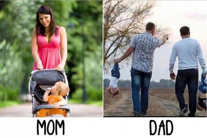 #5 BAWA ANAK MAMA : Membawa anaknya dengan membawa keranjang dorong. PAPA : Mengangkat anaknya seenaknya. Hahaha dont try at home!!!