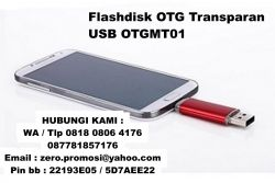 "Jual Flashdisk OTG Transparan "" USB OTGMT01"