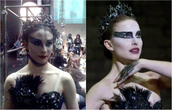 Ternyata film yang menceritakan balerina ini memakai pemeran pengganti juga, kirain bener-bener pinter balet. Natalie Portman dan Sarah Lane (Film Balck Swan)