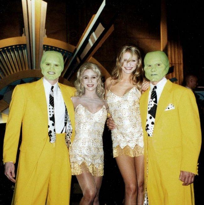 Jim Carrey dan Cameron Diaz dengan pemeran ganda mereka Dino Giorgio dan Lisa Nanzelloy, The Mask.
