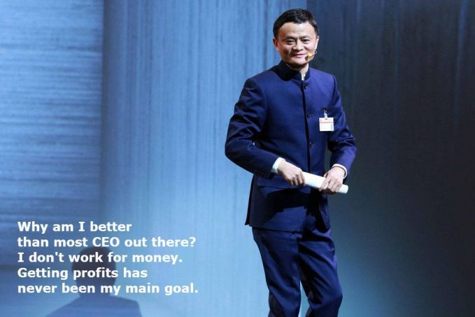 #14 Kenapa saya bisa jadi CEO yang lebih baik dari kebanyakan CEO di luar sana? Karena saya tidak bekerja untuk uang. Mendapatkan laba tak pernah menjadi tujuan utama saya. Menjadi sukses itu bukan berarti terus mengejar laba tetapi harus memiliki tujuan utama untuk membantu orang lain.