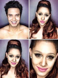 Pria Dengan Kemampuan Make-Up Menakjubkan, Dengan Hasil Mirip Selebriti!