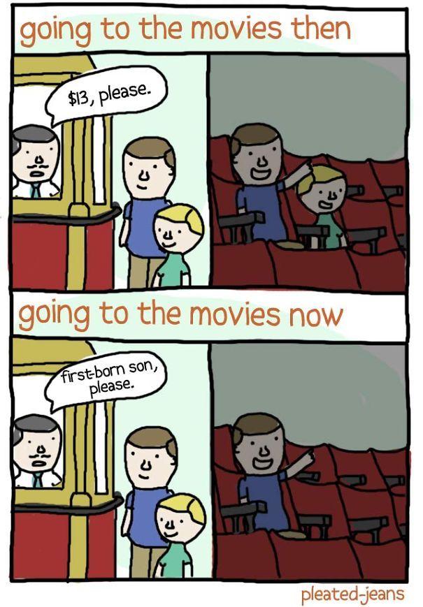 Dulu nonton bioskop ramai-ramai sekeluarga. Sekarang mah sendiri-sendiri saking lebih banyak film dewasa ketimbang film yang pantas di tonton semua umur.