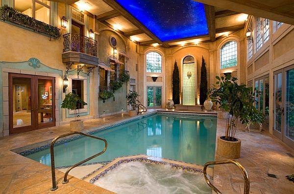 tuh yang demen kolam indoor dengan desain klasik..