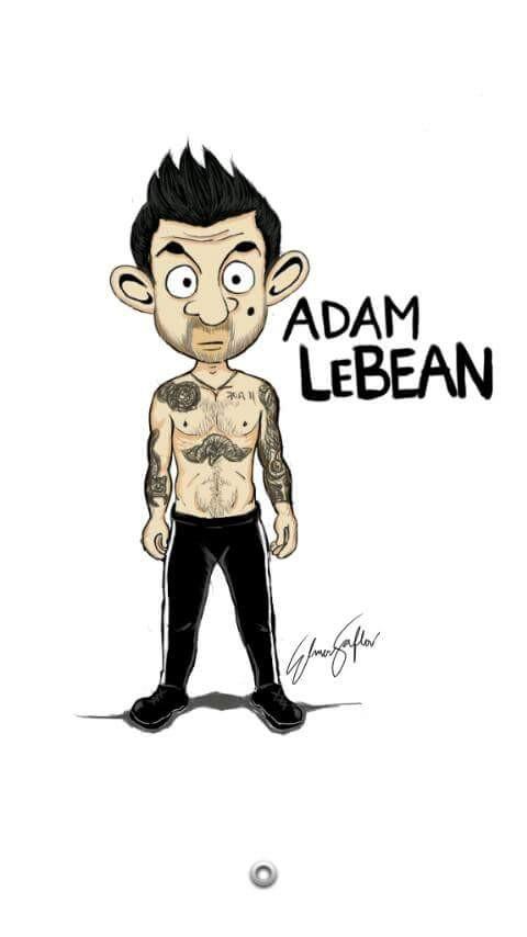 #1 ADAM LEVINE Pasti kenal dengan Adam Levine vokalis dari Maroon V kan! Hahaha jadi begini yang terjadi jika berubah Adam LeBean!