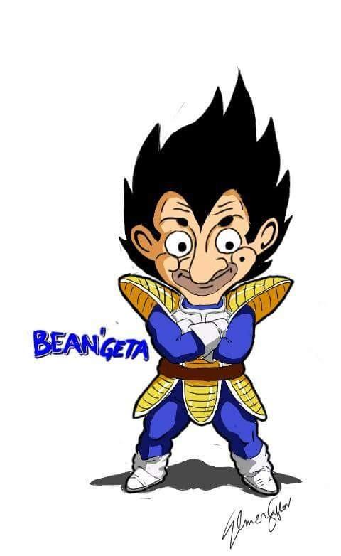 #8 VEGETA Musuh yang jadi teman dan keluarga dari Son Goku dalam komik Dragon Ball. Masih keren kan jika Mr Bean yang pakai kostum dari Vegeta?