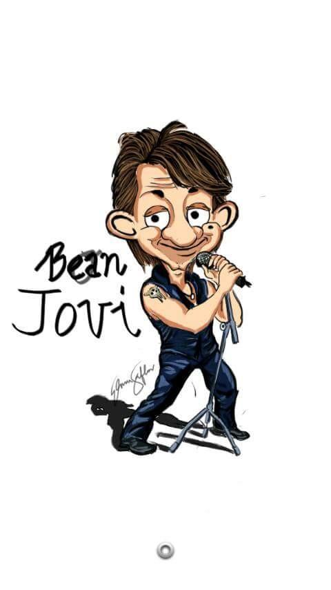 #10 BON JOVI Bon Jovi adalah grup band legendaris yang telah malang melintang ke penjuru dunia. Apa yang kalian bayangkan jika Mr Bean menyanyi lagu Its my life?