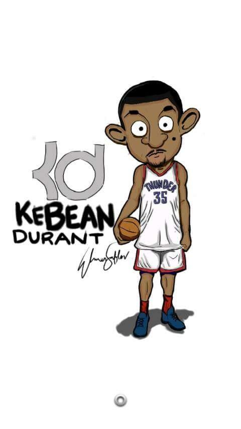 #13 KEVIN DURANT Wah ada pemain basket NBA yang diplesetin jadi Mr Bean. Eh kebalik dong. Hahaha