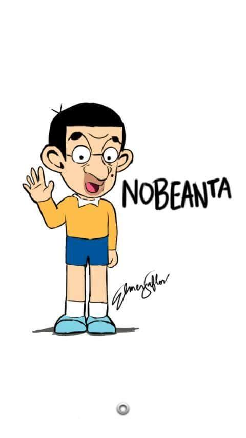 #14 NOBITA Mr Bean dimasukkan ke dalam Nobita. Kok jadinya gimana gitu. Eh mana si Doraemon?