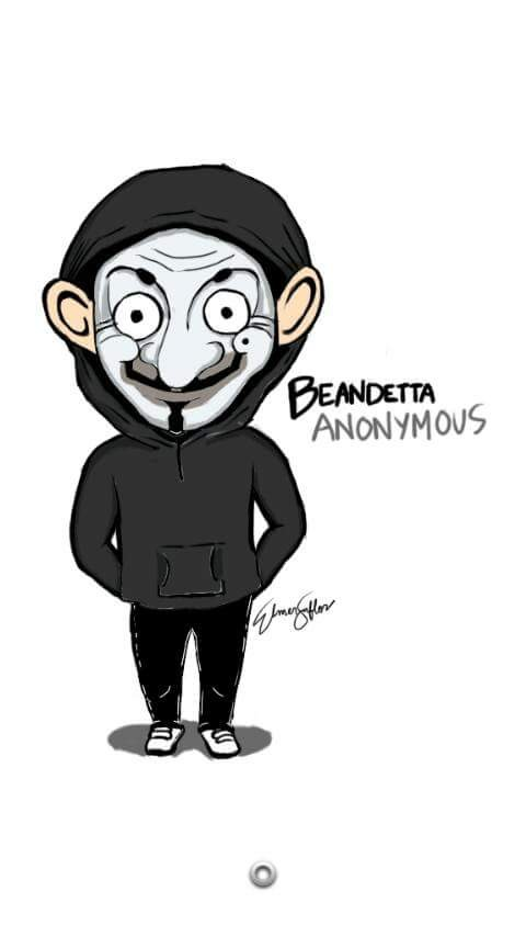 #17 VENDETA Tokoh yang kurang suka menunjukkan wajahnya dalam melawan kejahatan. Tapi gimana kalau topengnya diganti dengan wajah Mr Bean?