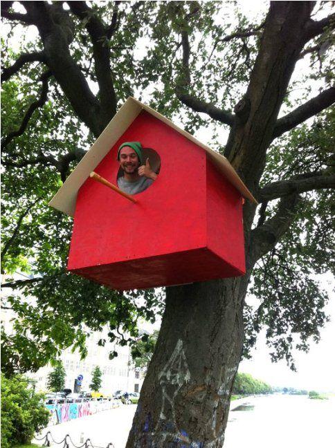 #11 RUMAH BURUNG BESAR Ini adalah Thomas Dambo. Ia sudah berkeliling di beberapa negara. Pada kali ini, ia membuat rumah burung yang besar dan dapat dimasuki oleh dia sendiri.