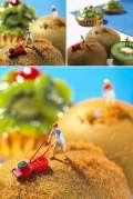 FOTOGRAFI Menakjubkan Kombinasi Miniatur dan Makanan, Keren Abis!