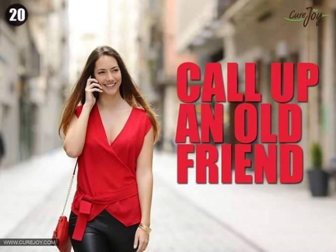 #20 TELPON TEMAN LAMA Cobalah menelpon teman lamamu, hal itu akan membuka memori yang tersimpan di dalam otakmu sehingga ingatan di otak terjaga. Selain itu dapat membuatmu terhindar dari kesepian karena kamu memiliki teman yang masih peduli padamu. TERIMA KASIH kliklinkER KARENA SUDAH MEMBACA. SEMOGA BERMANFAAT.
