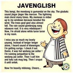 Ini Bukti Bahasa Jawa Lebih Efisien daripada Bahasa Inggris, Bangga Berbahasa daerah!