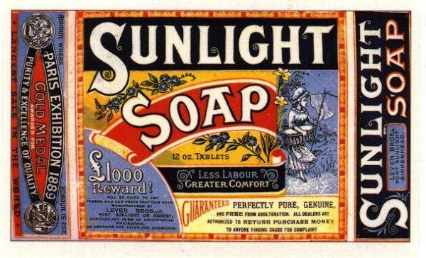 Sunlight Jaman dulu produk utama Unilever adalah sabun dan margarin. Tapi sekarang semua kebutuhan rumah sudah di produksi oleh perusahaan ini.