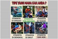 7 Tipe pengendara motor dilihat dari cara pakai helm, kamu yang mana?