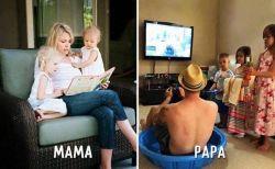 Perbedaan Mama dan Papa dalam hal mendidik anak.