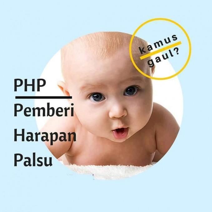 #3 PHP Pemberi Harapan Palsu. Kata gaul ini cukup populer di Indonesia karena banyak yang menjadi korban PHP. Awalnya didekatin, tau-taunya malah dekatin orang lain.