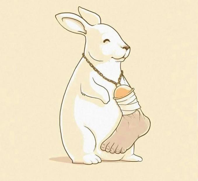 #9 KAKI KELINCI Manusia sering memotong kaki kelinci dan dijadikan kalung. Hal ini dilakukan sebagai jimat keberuntungan. Tapi bagaimana kalau kelinci memakai kaki manusia sebagai bandul kalungnya?