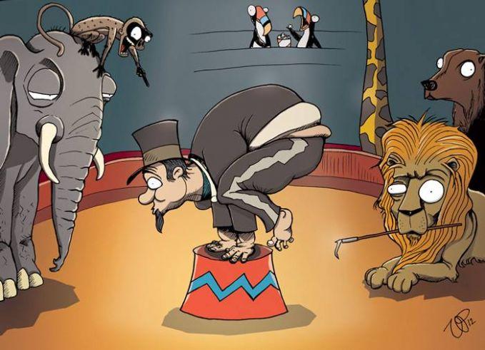#15 SIRKUS Hewan-hewan disiksa demikian rupa supaya dapat dijadikan pertunjukkan yang menguntungkan manusia. Nah ini saatnya manusia yang dijadikan sebagai objek sirkus? Mau? Semoga kita selalu menyayangi hewan yang PULSKER!