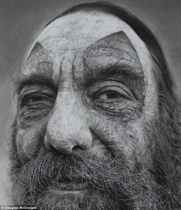 kalo ini adalaah hasil karya seniman realistis lainnya.. yang memakai bahan lukis yang lama..
