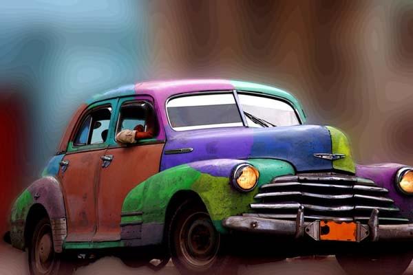mobil tua pun bisa kelihatan vintage banget!