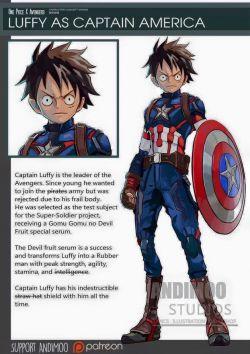 ONE PIECE X AVENGERS Ketika karakter OnePiece digabungkan dengan para SuperHero Marvel. Awesome!
