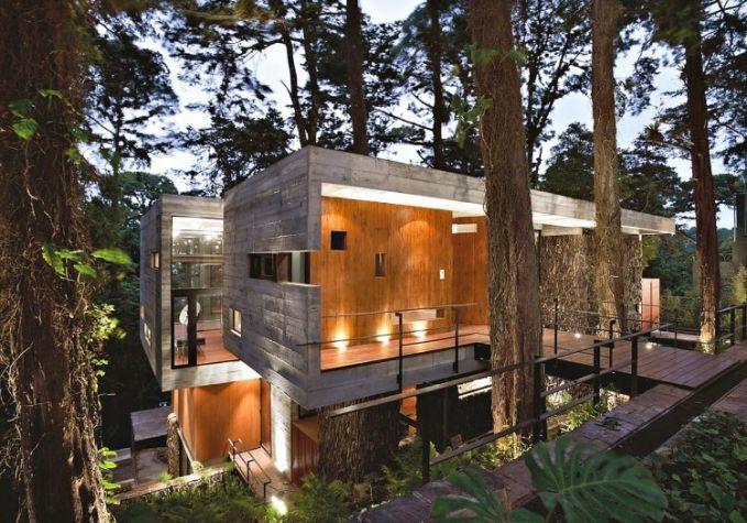 bukan hanya material kayu, dari bahan beton pun juga bisa, tuh desainnya..