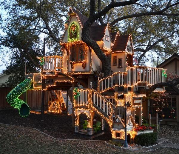 kalo kalian punya halaman luas dan pohon yang besar, kenapa gak bikin tempat rekreasi keren kek gitu?
