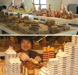 Ketika Kumpulan Biskuit Dibentuk Menjadi Bentuk Miniatur Bangunan Yang Menakjubkan!