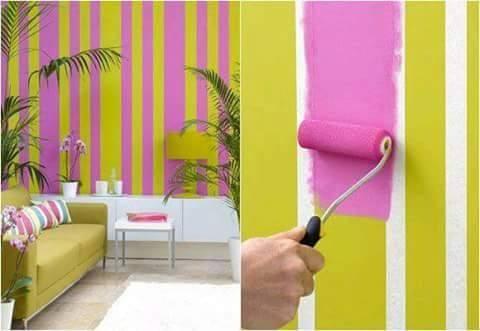 motif garis-garis yg membuat ruangan tampak segar