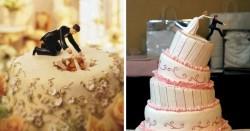 10 Cake Pernikahan yang Unik dan Lucu #6 Bener Banget!