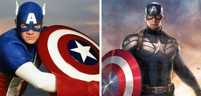 Captain America Penampakan Tahun 1990 dan 2016, Gak jau beda ya pemerannya sama gantengnya