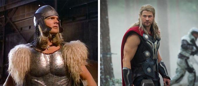 Thor Perubahan Tahun 1978 dan 2013, Thor jaman dulu bajunya jadul banget pake topi Helm juga