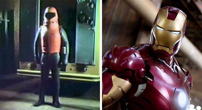 Iron Man Perubahan tahun 1977 dan 2008, Bedanya jauh banget, kalau Ironman jaman dulu kayak baju astronot