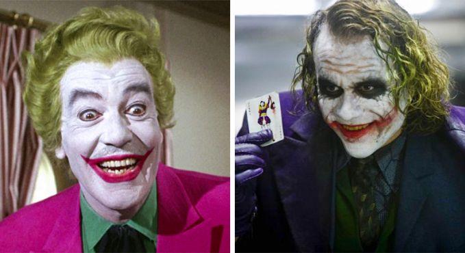 Joker Perubahan Tahun 1966 dan 2008, Joker jaman dulu malah mirip Badut, kesannya lucu dan gak seram