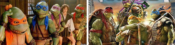 Teenage Mutant Ninja Turtles Perubahan Kura-kura Ninja tahun 1990 dan 2016 Itulah perubahan superhero dari masa ke masa, Superhero yang manakah idolamu?