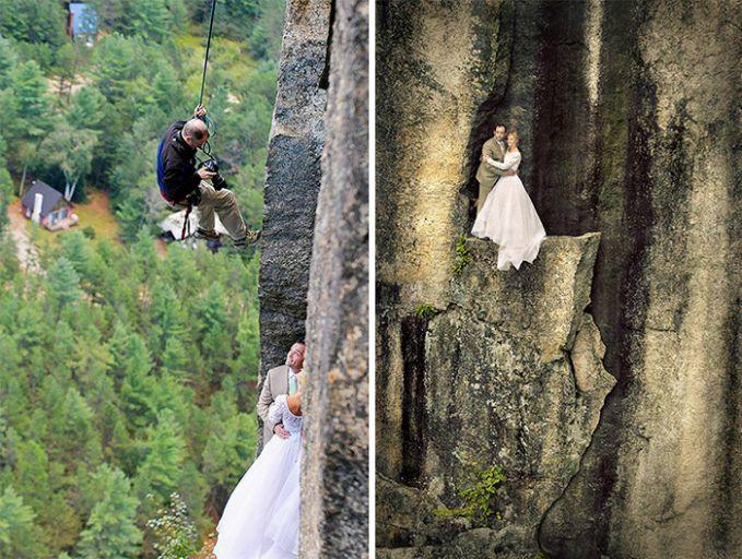 Kemampuan memanjat dan Rappling juga butuh demi hasil Foto Seperti ini!