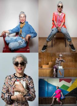 Kamu yang Cewek Sudah Merasa Fashionable? Emmm... Masih Kalah dengan Style Nenek 80 Tahun yang Satu Ini