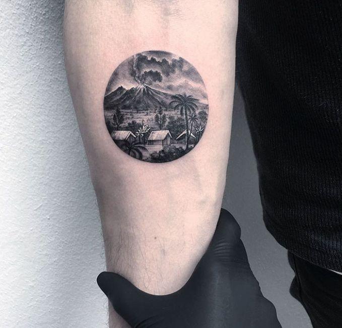 Pemandangan Persawahan & Pegunungan.