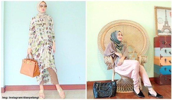 Dian Pelangi Hijaber mana yang tidak mengenal Dian Pelangi, trendsetter fashion hijab di Indonesia. Sukses dengan bisnis fashionnya, hijaber yang dikabarkan sedang menggungat cerai suaminya ini juga hobby memakai barang-barang yang super mahal dan mewah.