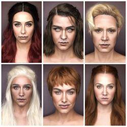 Keren! Pria Ini Berubah Menjadi 7 Karakter Utama Game of Thrones Dengan Makeup