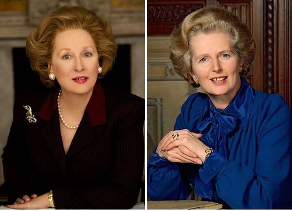 Meryl Streep sebagai Margaret Thatcher di The Iron Lady (2011).