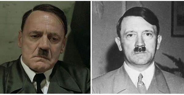 Bruno Ganz sebagai Adolf Hitler di Downfall (2004).