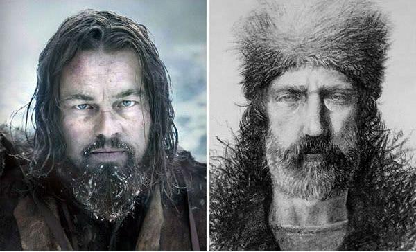 Leonardo DiCaprio sebagai Hugh Glass di The Revenant (2016).
