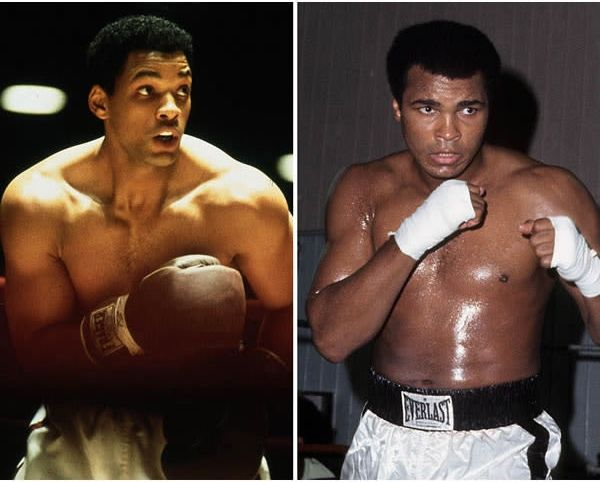Will Smith sebagai petinju Amerika Muhammad Ali di Ali (2001).