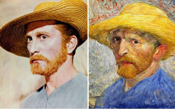 Kirk Douglas sebagai Vincent Van Gogh di Lust For Life (1956).